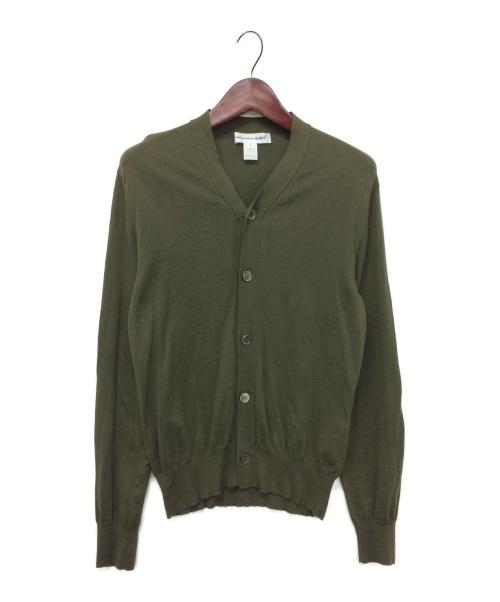COMME des GARCONS SHIRT(コムデギャルソンシャツ)COMME des GARCONS SHIRT (コムデギャルソンシャツ) コットンカーディガン オリーブ サイズ:Sの古着・服飾アイテム