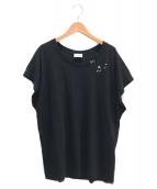Saint Laurent Paris(サンローランパリ)の古着「音符プリントドルマンスリーブTシャツ」|ブラック