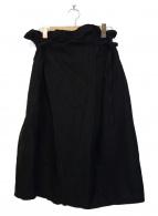 ()の古着「コットンリネンラップスカート」 ブラック