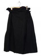 nest Robe(ネストローブ)の古着「コットンリネンラップスカート」|ブラック