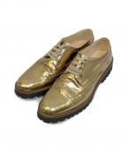 FABIO RUSCONI(ファビオルスコーニ)の古着「ウィングチップシューズ」 ゴールド