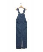 IENA LA BOUCLE(イエナ ラ ブークル)の古着「デニムジャンパースカート」 インディゴ