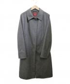 AMACA(アマカ)の古着「比翼コート」 グレー