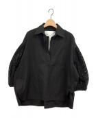TICCA(ティッカ)の古着「レースパフスリーブシャツ」|ブラック
