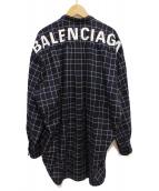 BALENCIAGA(バレンシアガ)の古着「New Swing Shirt」|ネイビー