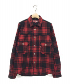 JUNYA WATANABE COMME des GARCON MAN×Levi's(ジュンヤワタナベ コムデギャルソン マン×リーバイス)の古着「15AW チェックシャツ」 レッド