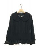 COMME des GARCONS(コムデギャルソン)の古着「19SS 丸襟シースルーブラウス」|ブラック