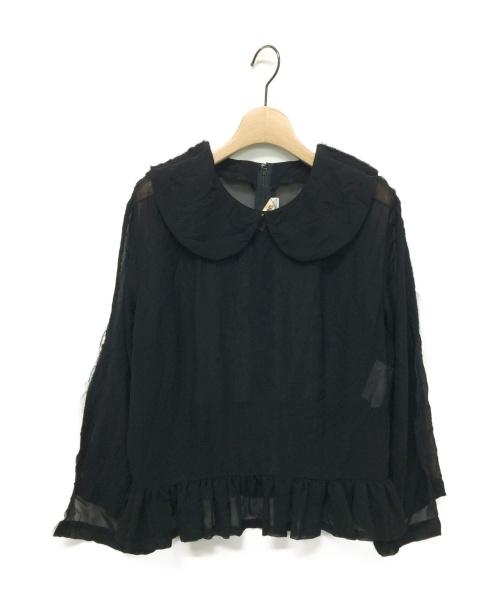 COMME des GARCONS(コムデギャルソン)COMME des GARCONS (コムデギャルソン) 19SS 丸襟シースルーブラウス ブラック サイズ:Sの古着・服飾アイテム