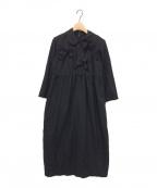 COMME des GARCONS GIRL(コムデギャルソン ガール)の古着「後染め加工リボンワンピース」|ブラック