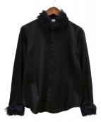 noir kei ninomiya(ノワール ケイ ニノミヤ)の古着「ファーデザインシャツ」|ブラック