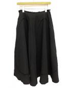 COMME des GARCONS(コムデギャルソン)の古着「ポリエステル縮絨立体裁断スカート」|ブラック