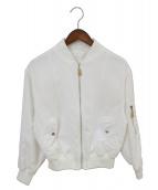 Whim Gazette(ウィムガゼット)の古着「MA-1ジャケット」|ホワイト