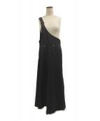 AULA AILA(アウラアイラ)の古着「ワンショルダージャンパースカート」|ブラック