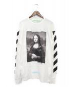 OFFWHITE(オフホワイト)の古着「DIAGONAL MONALISA LONGSLEEVE T」|ホワイト