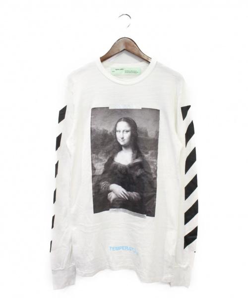 OFFWHITE(オフホワイト)OFFWHITE (オフホワイト) DIAGONAL MONALISA LONGSLEEVE T ホワイト サイズ:Sの古着・服飾アイテム