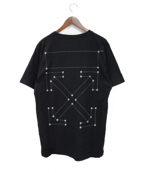 OFFWHITE(オフホワイト)OFFWHITE (オフホワイト) 19AW  BACKBONE S/S SLIM TEE ブラック サイズ:Lの古着・服飾アイテム