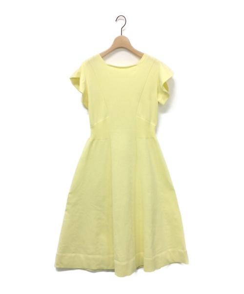 CELFORD(セルフォード)CELFORD (セルフォード) ホールガーメントニットワンピース イエロー サイズ:38の古着・服飾アイテム