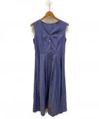 The Virgnia(ザ ヴァージニア)の古着「ノースリフレアシャツワンピース」|ブルー