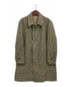 NORMAN(ノルマン)の古着「Harris Tweed Solution Caot」|ベージュ×ブラウン