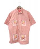 Supreme(シュプリーム)の古着「刺繍半袖 キューバシャツ」|レッド