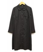 JIL SANDER NAVY(ジルサンダーネイビー)の古着「シャツワンピース」|ダークグレー