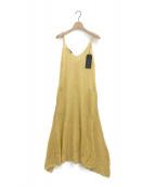 UNUSED(アンユーズド)の古着「モヘヤシルクキャミソールワンピース」|イエロー