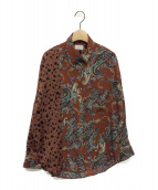 JUEMI(ジュエミ)の古着「Crazy Dalmatian Shirt」|ブラウン