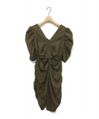 CASA FLINE(カーサフライン)の古着「カシュクールミニワンピース」|オリーブ
