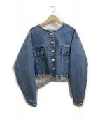PERVERZE(パーバーズ)の古着「クラッシュデニムジャケット」|インディゴ