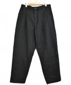 YANTOR(ヤントル)の古着「タックパンツ」 ブラック