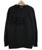 WIND AND SEA(ウィンダンシー)の古着「クルーネックスウェット」|ブラック
