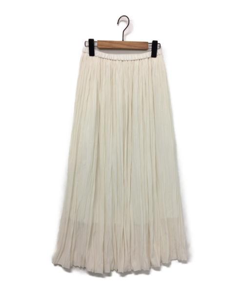 Noble(ノーブル)Noble (ノーブル) ニュアンスプリーツマキシスカート アイボリー サイズ:表記なしの古着・服飾アイテム