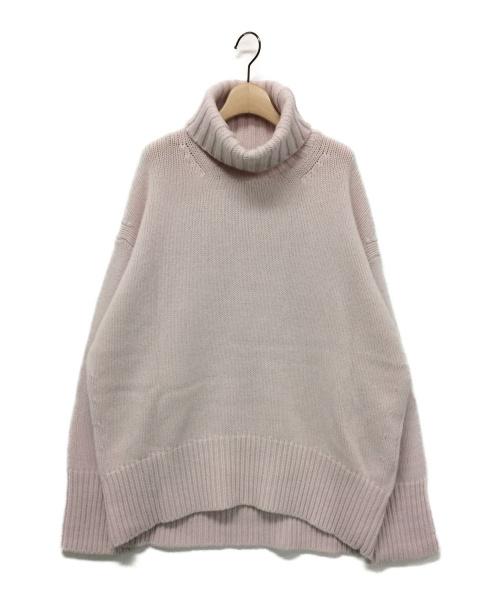 GALERIE VIE(ギャルリーヴィー)GALERIE VIE (ギャルリーヴィー) ファインウールハイネックプルオーバー ピンク サイズ:Mの古着・服飾アイテム