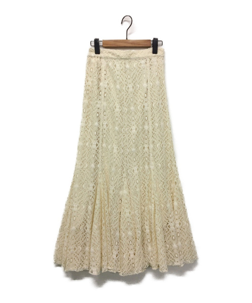 FRAY I.D(フレイアイディー)FRAY I.D (フレイアイディー) マーメイドレーススカート アイボリーの古着・服飾アイテム
