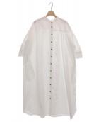 NATSUMI ZAMA(ナツミ ザマ)の古着「PUFF SLEEVE SHIRT DRESS」 ホワイト