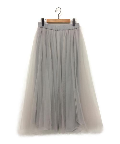 eclat(エクラ)eclat (エクラ) チュールスカート グレー サイズ:40の古着・服飾アイテム