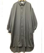 Midi-Umi(ミディウミ)の古着「シャツワンピース」|グレー