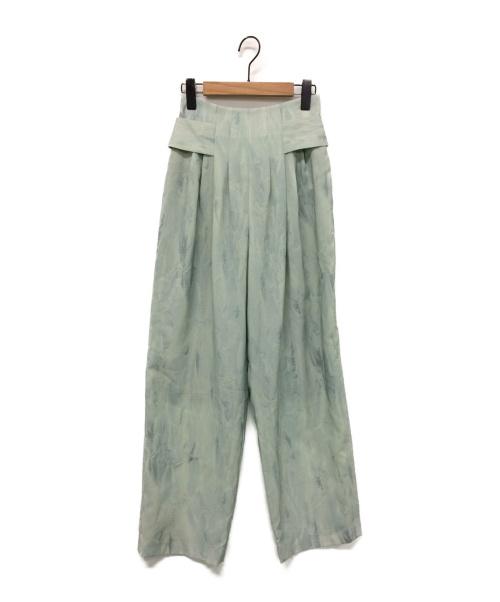 CLANE(クラネ)CLANE (クラネ) TINT EBRU TUCK PANTS ミント サイズ:1 未使用品の古着・服飾アイテム