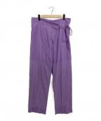 Little suzie(リトルスージー)の古着「sheer wrap pants」 バイオレット