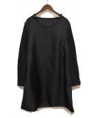COMME des GARCONS HOMME PLUS(コムデギャルソンオムプリュス)の古着「19AW ポリ縮絨プルオーバージャケットロングカットソー」|ブラック