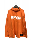 SWAGGER(スワッガー)の古着「モックネックスウェット」|オレンジ