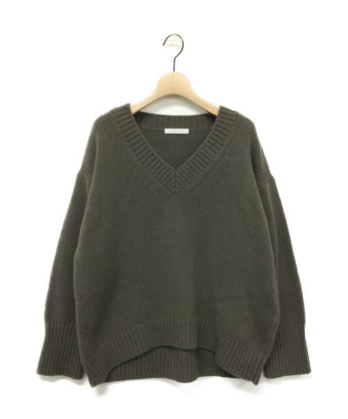 GALERIE VIE(ギャルリーヴィー)GALERIE VIE (ギャルリーヴィー) ファインウールVネックニット サイズ:Sの古着・服飾アイテム