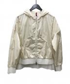 MONCLER(モンクレール)の古着「ナイロンジップパーカー」|ベージュ