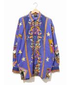VERSACE(ヴェルサーチ)の古着「[OLD]ピエロサーカス柄シャツ」 ネイビー