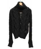 Yves Saint Laurent(イブサンローラン)の古着「カシミヤタートルネックニット」|ブラック