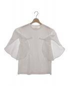 AKIRA NAKA(アキラ ナカ)の古着「フリルカットソー」|ホワイト