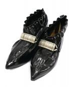 TOGA PULLA(トーガプルラ)の古着「ドロストリングショートブーツ」|ブラック