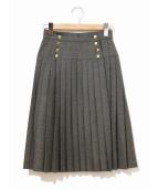 CHANEL(シャネル)の古着「[OLD]ラッププリーツスカート」 グレー