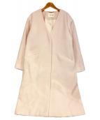 LAISSE PASSE(レッセパッセ)の古着「Vカラーゆるコート」|ピンク