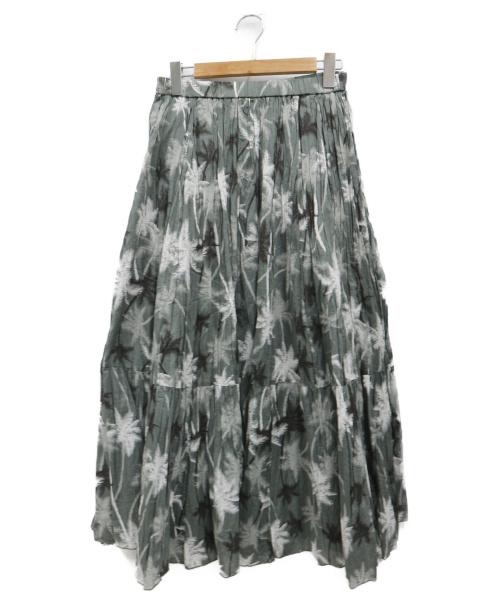 upper hights(アッパーハイツ)upper hights (アッパーハイツ) ギャザースカート オリーブ 未使用品の古着・服飾アイテム